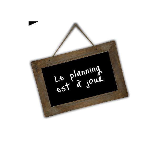 Planning mis à jour
