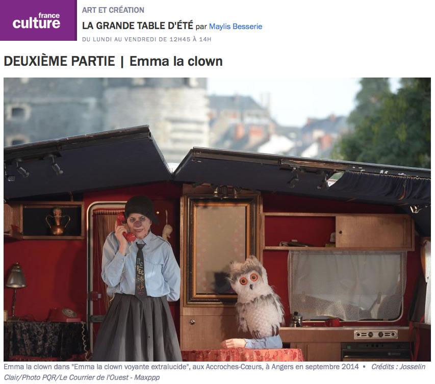 France Culture Juillet 2019